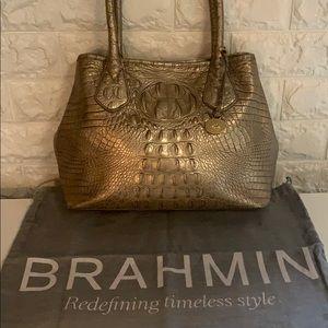 Gold Brahmin Shoulder Bag